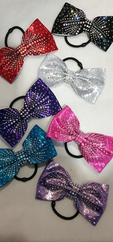 Crystal hair bow