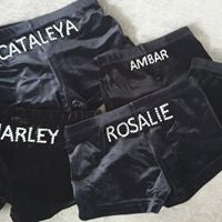 Black velour gym shorts personalised