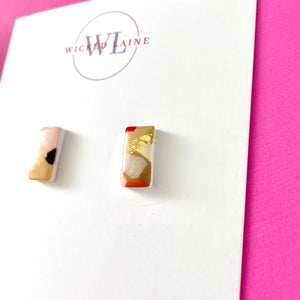Strawberries & Cream Mini Studs