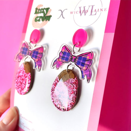 Eggspression Dangles (Pink Unwrapped)
