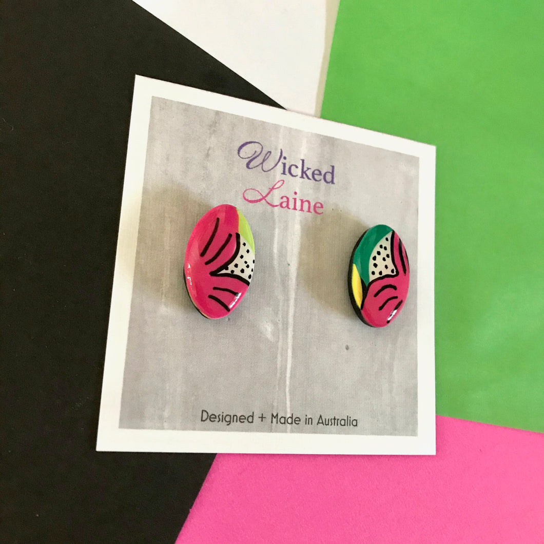 Jungle Orchid Studs