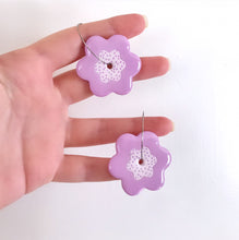 Load image into Gallery viewer, Lavender Bloom Hoops