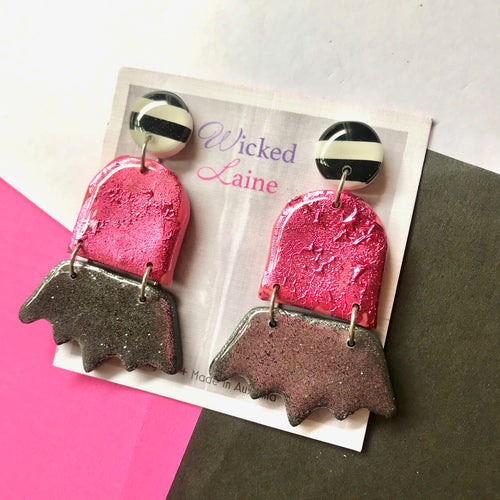 Pretty In Pink Dangles