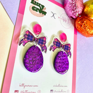 Eggspression Dangles (Purple Wrapped)