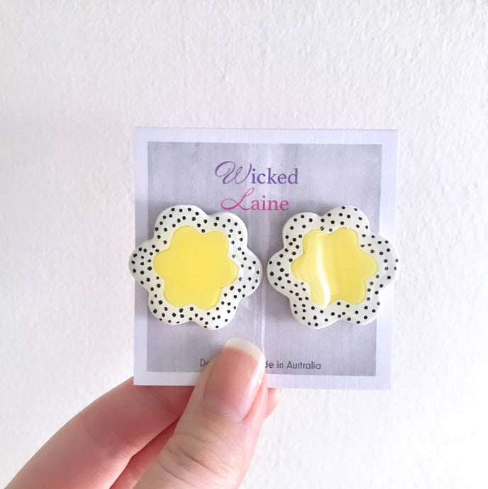 Yellow Bloom Studs
