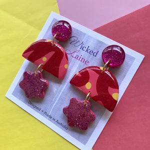 Strawberry Sorbet Triple Dangles
