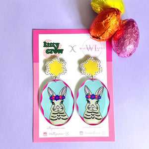 Delilah Bunny Dangles (Yellow Flowers)