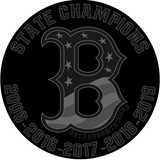 Buchanan Wrestling 5X State Champs Black Ops Circle