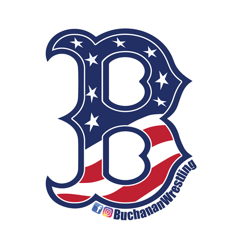 Buchanan Wrestling Follow Us Sticker