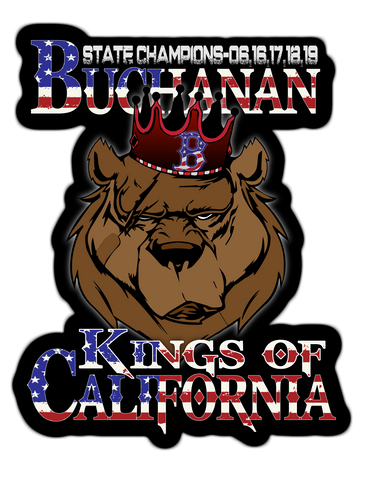 Buchanan Kings Of California Sticker