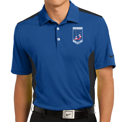 Buchanan Wrestling Nike Dri-FIT Engineered Mesh Polo