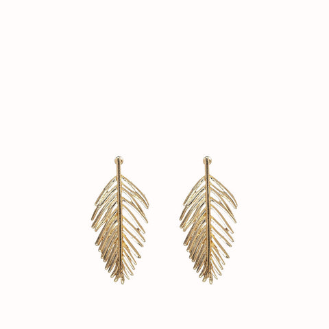 AMELIA GOLD PALM LEAVES EARRINGS
