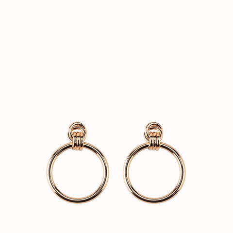 ANNA LARGE HOOP GOLD EARRINGS