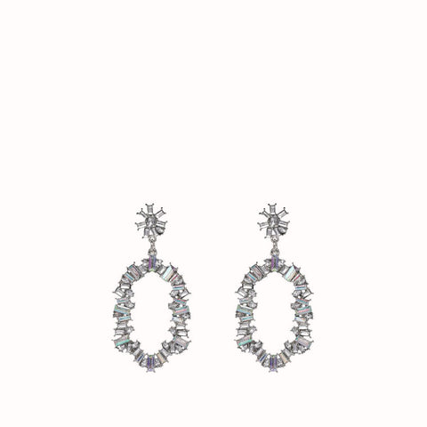 AVERY IRIDESCENT CRYSTAL DROP EARRINGS