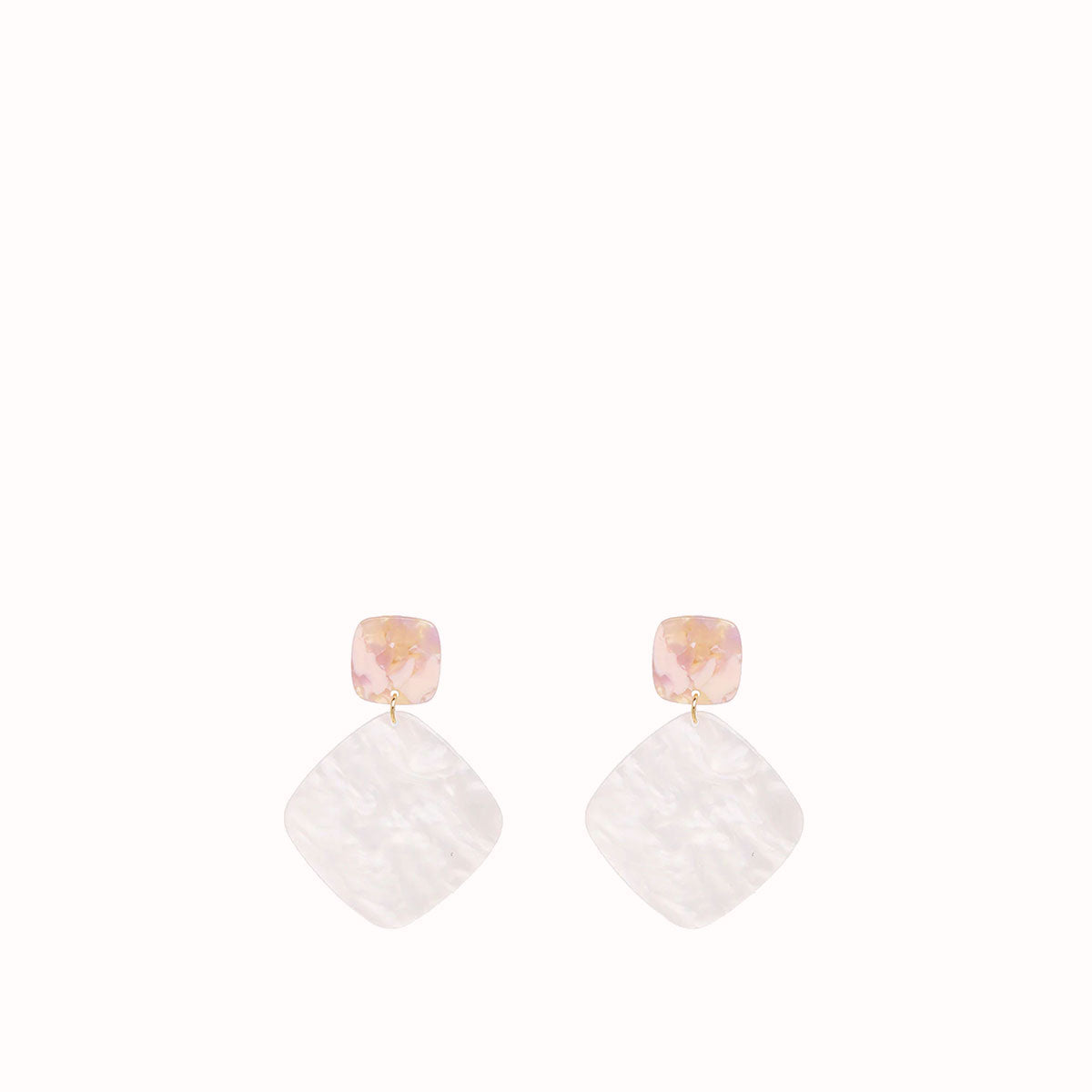 CAROLINE ACRYLIC CHARM EARRINGS