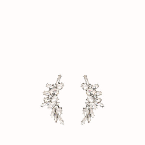 GRACE CRYSTAL CZ ANGEL WINGS EARRINGS
