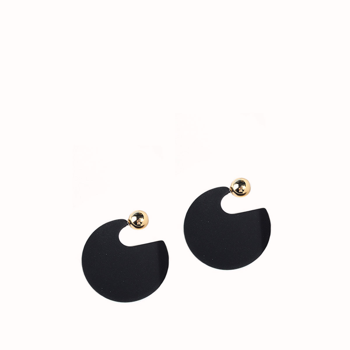SAMANTHA ACRYLIC CIRCLE WITH GOLD BACK DROP EARRINGS