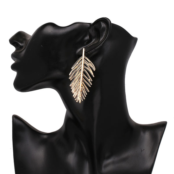 'Live Like You Mean It' Gold Leaves Drop Earrings