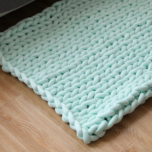 Mosain Washable Chunky Knit Blanket (NO SHEDDING) Extreme Arm Knitting Throws Pet-Friendly