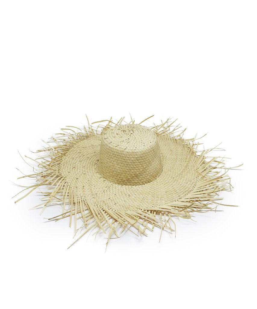 Raw brim beach hat