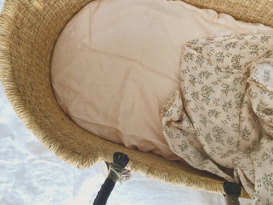Esmae the label - Soft Peach bassinet sheet