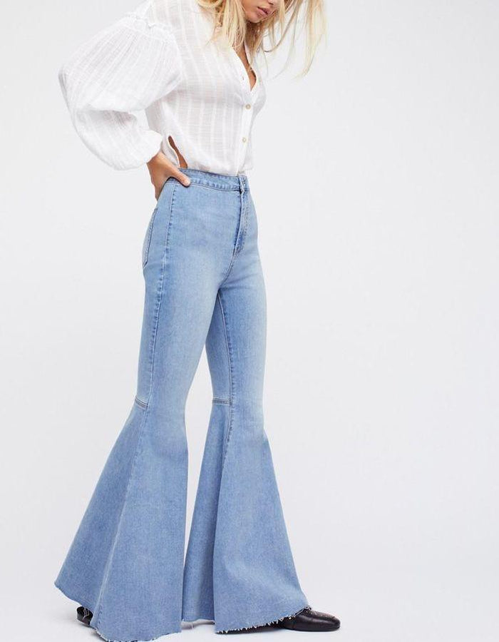High Waist Vintage Bell Bottoms - MyBoholy