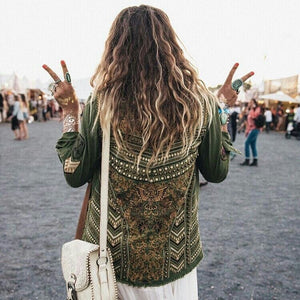 Vintage Peace Warrior Jacket - MyBoholy