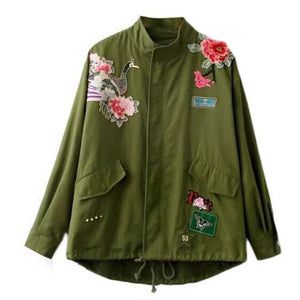 Rose Peacock Embroidery Jacket - MyBoholy
