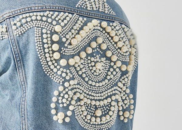 Vintage Boho Beads Denim Jacket - MyBoholy