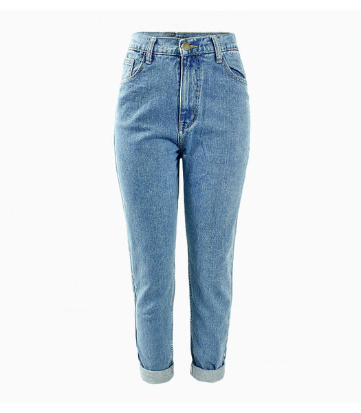 High Waist Blue Mom Jeans - MyBoholy
