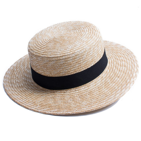 Wide Brim Natural Straw Hat - MyBoholy