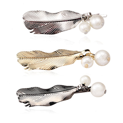 Pearl & Feather Hairpin - MyBoholy