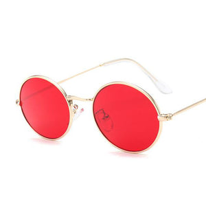 Round Red Aviator Sunglasses - MyBoholy