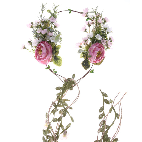 Vintage Rose Flower Hair Wreath - MyBoholy