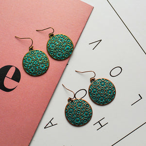 Azteca Circle Drop Earrings - MyBoholy