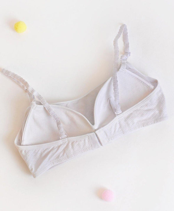 Jacquard Triangle Cup Bandeau - Young Hearts Lingerie Malaysia