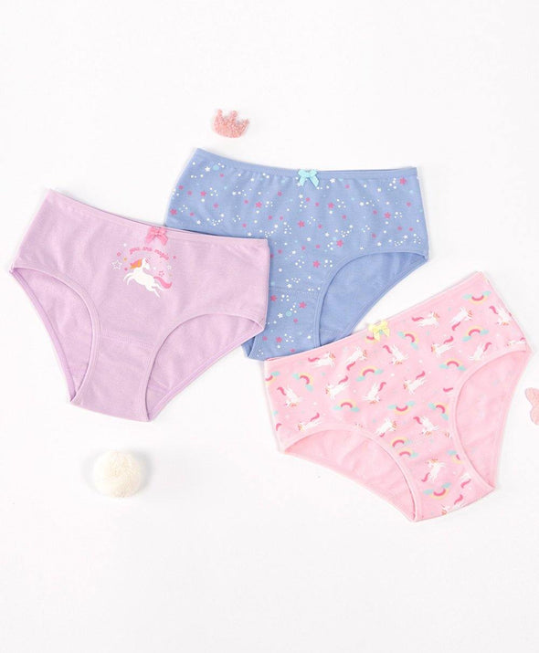Magic Unicorn Mini 3-pack Panties - Young Hearts Lingerie Malaysia