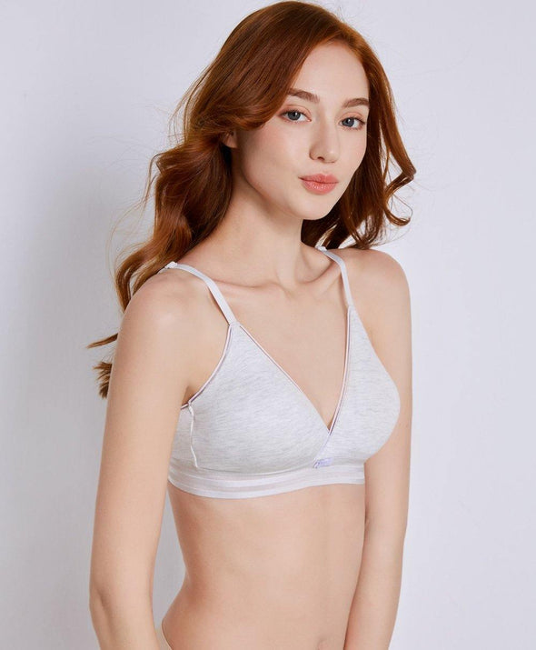 Melange Triangle Bralette - Young Hearts Lingerie Malaysia