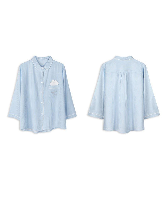 Quiet Sky Woven Pajama Set - Young Hearts Lingerie Malaysia