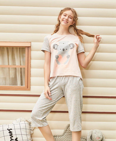Lovely Koala Sleep Set - Young Hearts Lingerie Malaysia