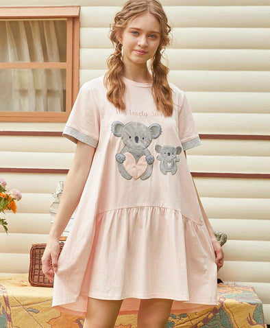Lovely Koala Sleep Dress - Young Hearts Lingerie Malaysia