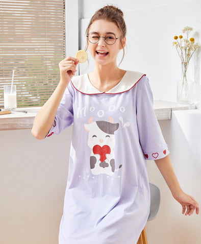 Milky Moo Moo Sleep Dresses - Young Hearts Lingerie Malaysia