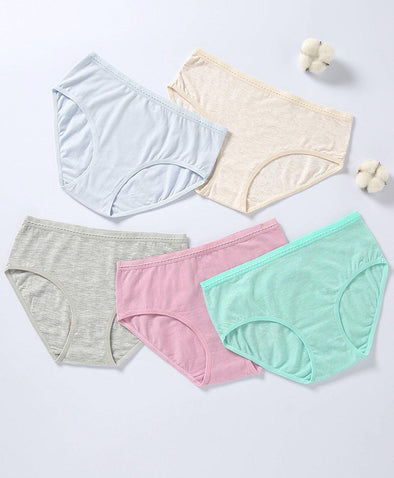 Comfy Morandi Cotton 5-pack Midi panties