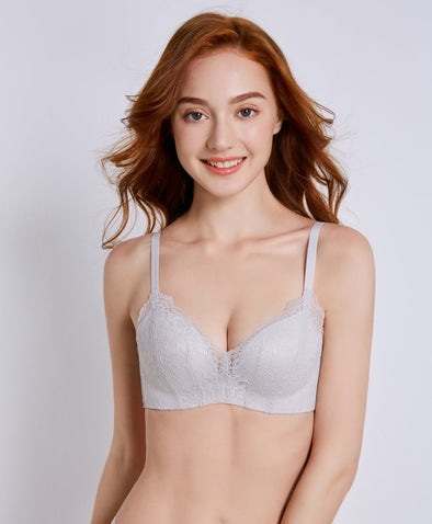 Dainty Lace Triangle Wireless Bra - Young Hearts Lingerie Malaysia