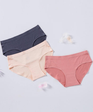 Jacquard Stripes Seamless Panties - Young Hearts Lingerie Malaysia