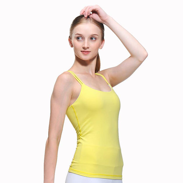6b1020e169f6a Women Yoga Fitness Sports Sleeveless Running Gym Tank Top Singlets Female  Colorful Outdoor Wear Vest Tshirt