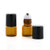 1ml Amber Glass Roller Bottles with Black Lids (5 pack)
