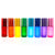 5ml Frosted Rainbow Roller Bottles with Roller-Balls (8 pack) for Essential Oils EOS NZ