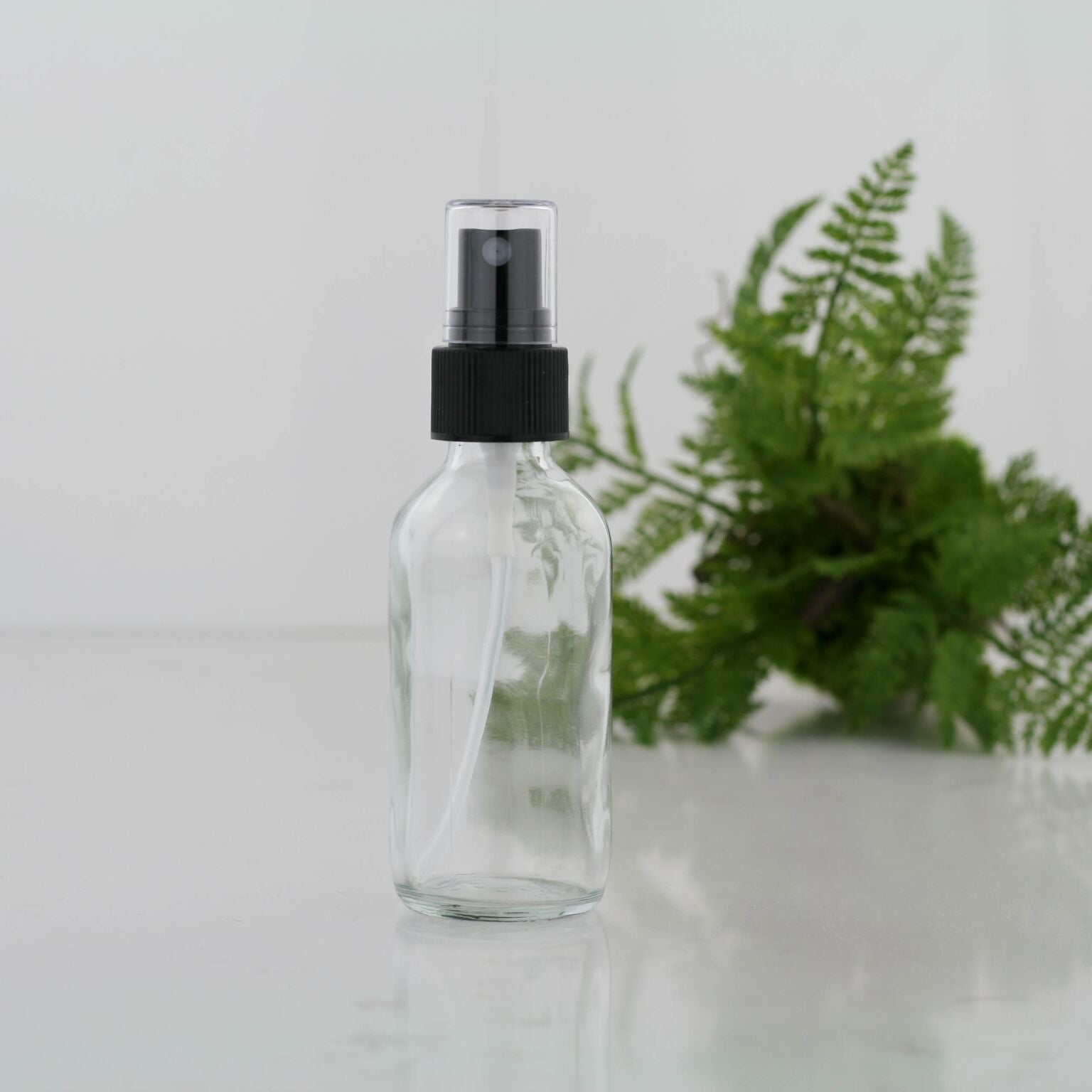 60ml Clear Glass Bottle with Fine Mist Spray Head