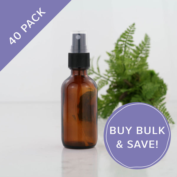 60ml Amber Glass Spray Bottles 40 Pack Bulk NZ